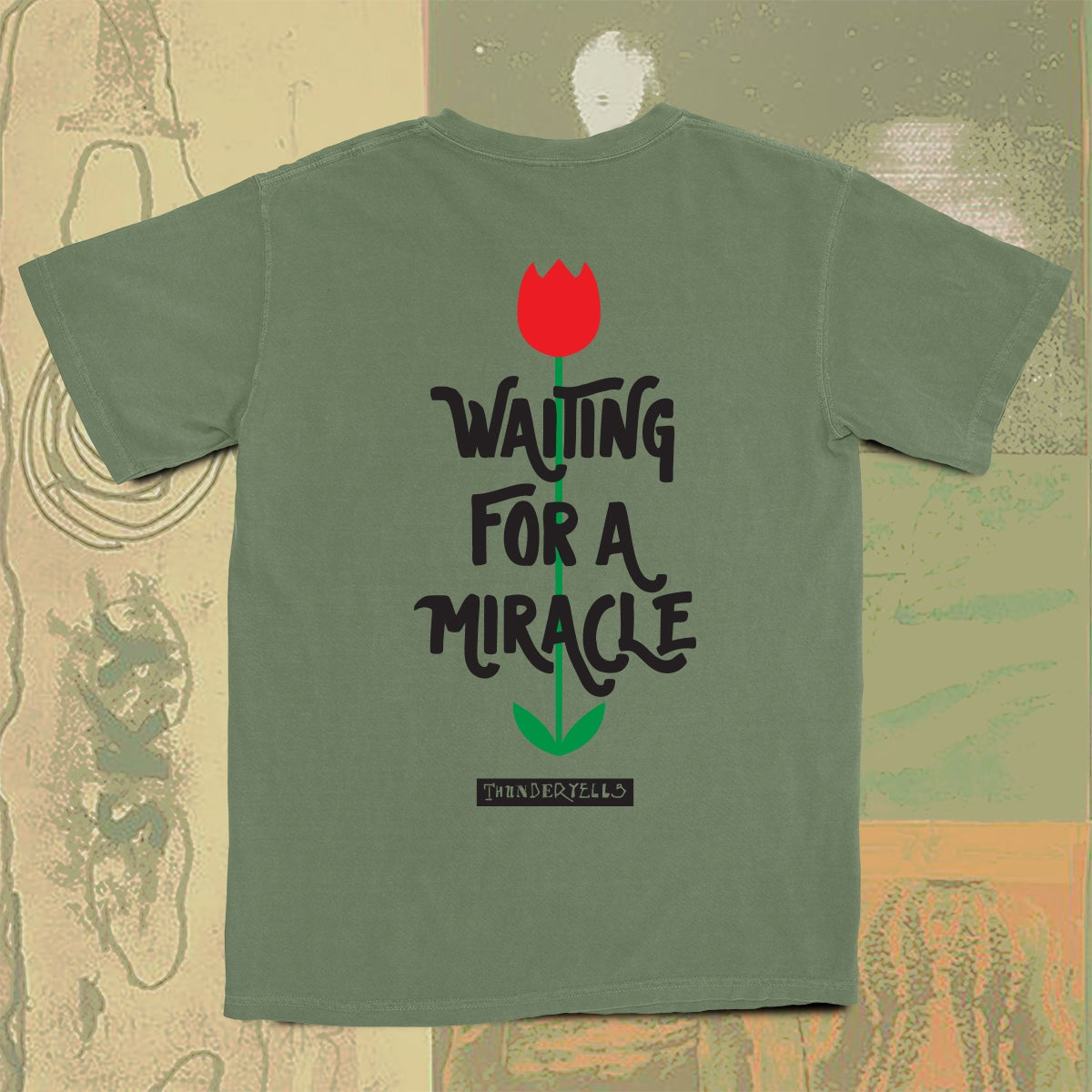 Image of Waiting For A Miracle Tee - Moss