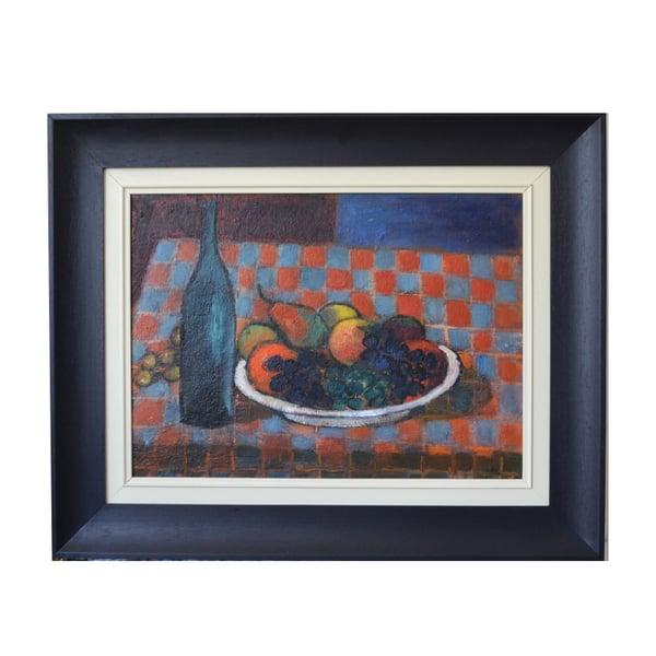 Image of 1956, Swedish Still Life Painting, 'Fruit and Wine.' LARS VIDLUND