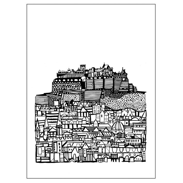 Image of Castle City screenprint