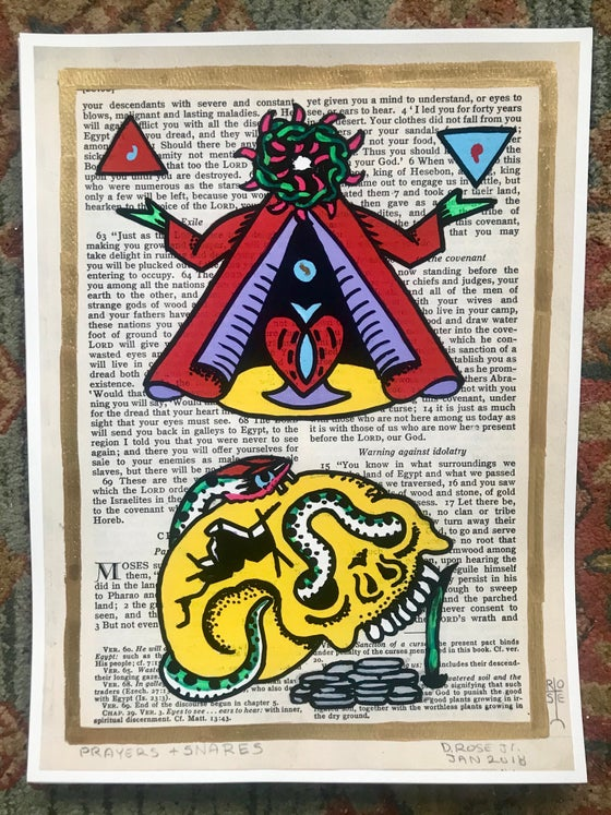 Image of Prayers and snares 12x16