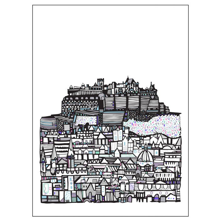 Image of SMALL Castle City print