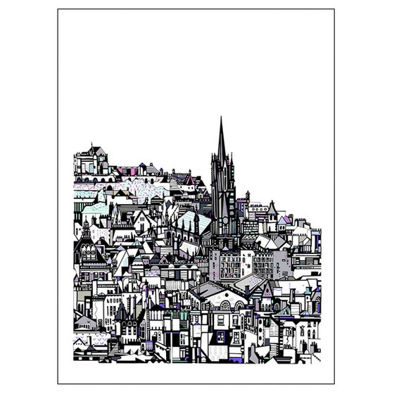 Image of SMALL Edinburgh City digital print
