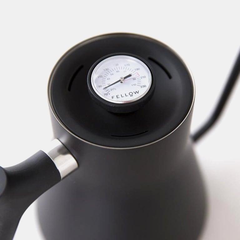 Image of Bouilloire Fellow Noire avec thermomètre