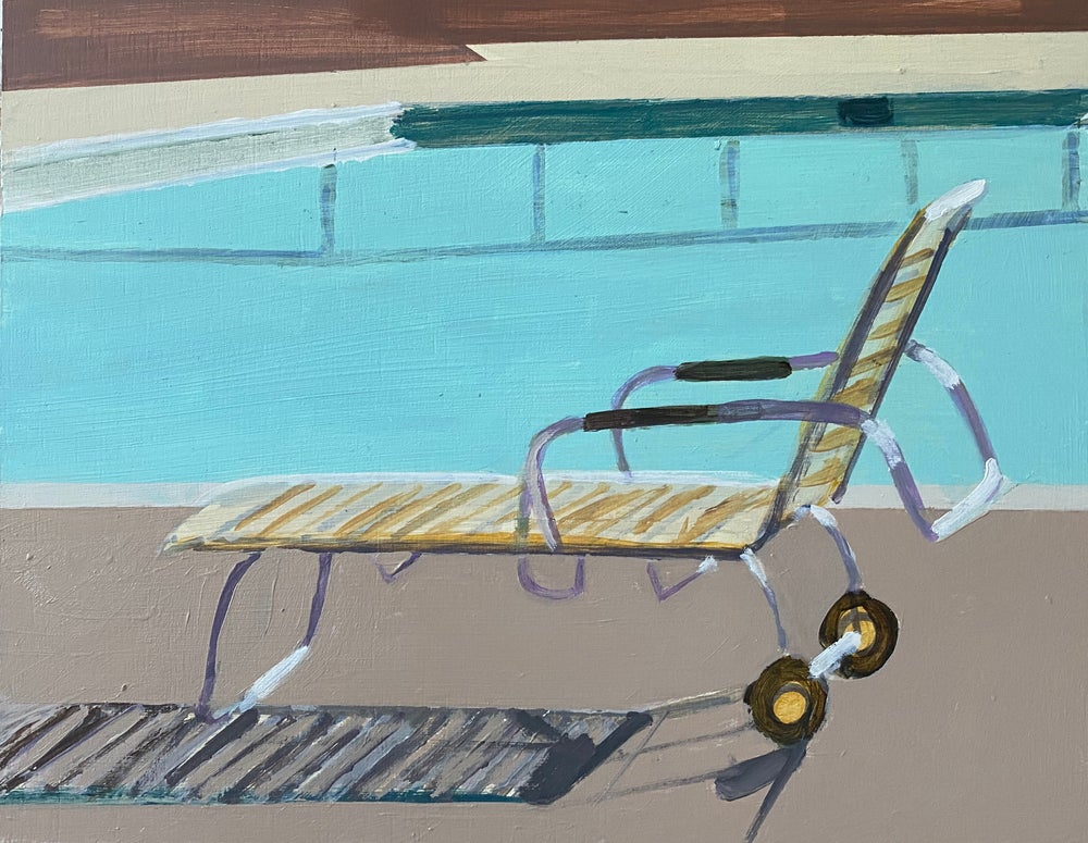 Image of Study: Lounge Chair by Pool