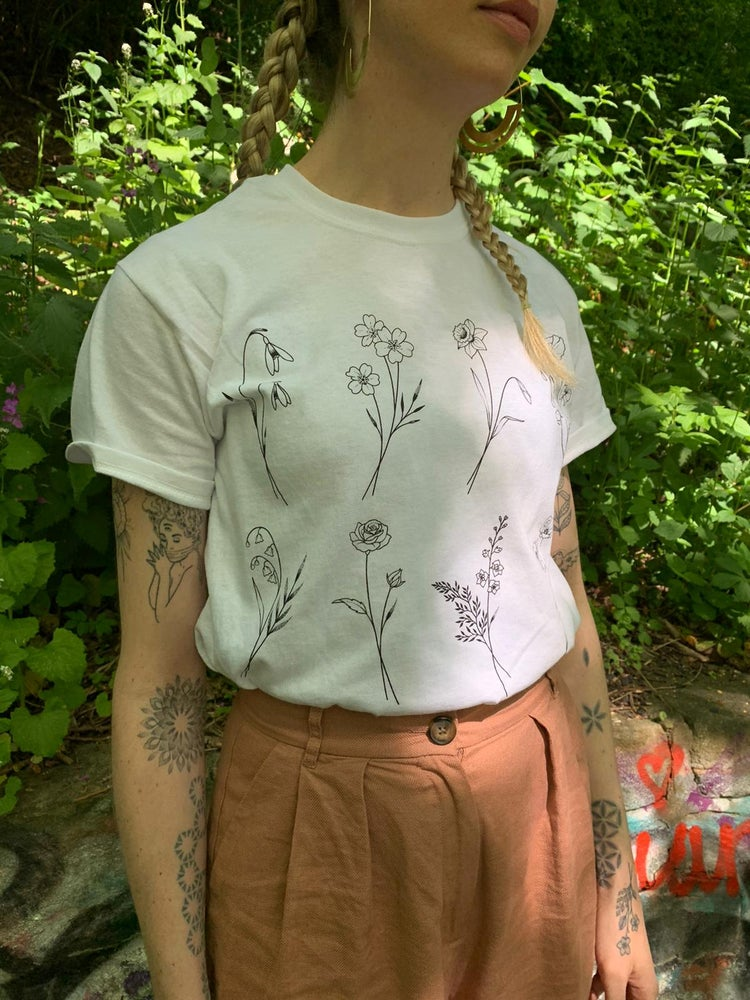 Image of Birth Flower T-shirt
