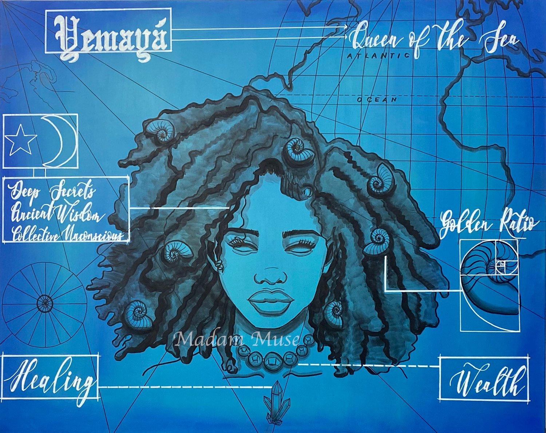 "Image of ""Yemaya"" Blueprint Series Limited Edition Prints"