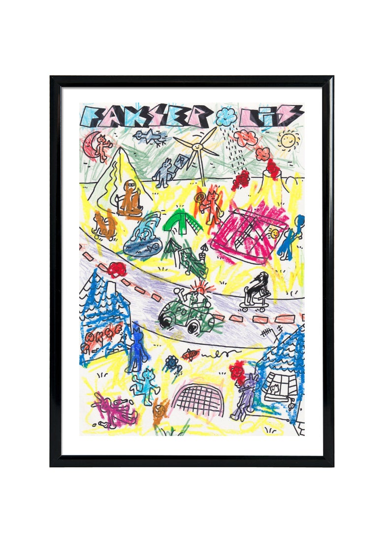 Image of FAKSEPOLIS - SCREENPRINT- HAND DRAWN - FRAMED / IDA