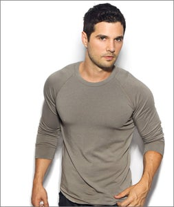 Image of Men's Long Sleeve Khaki Raglan