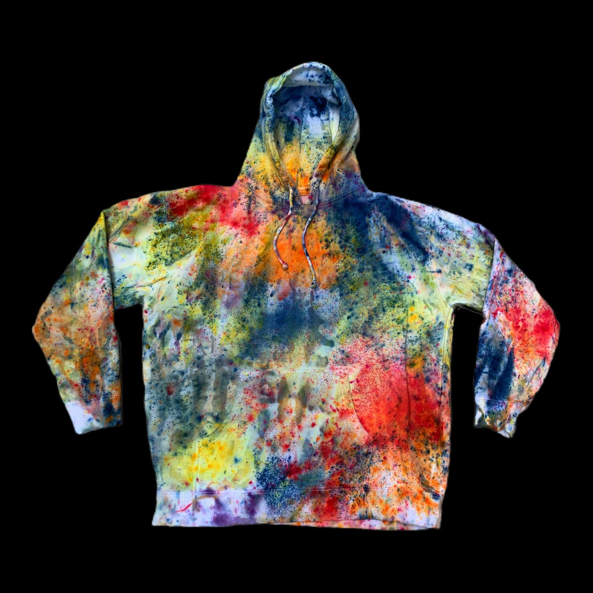 Custom Hand Dyed Heavyweight Pullover Hoodies! - Rainbow