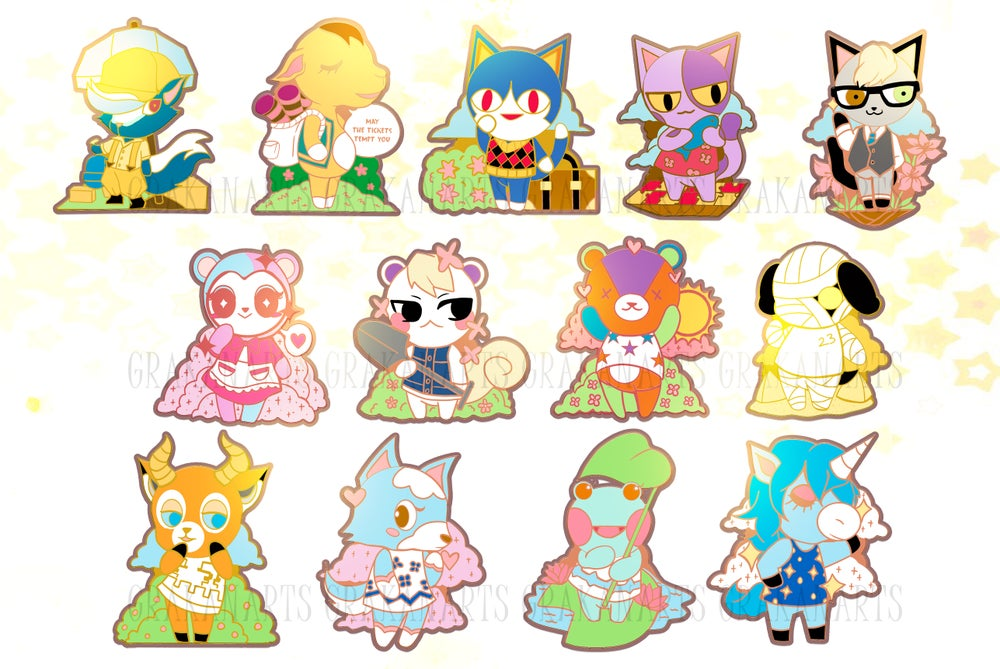 Image of  Animal Crossing New Horizon Enamel Pins (SET 2)