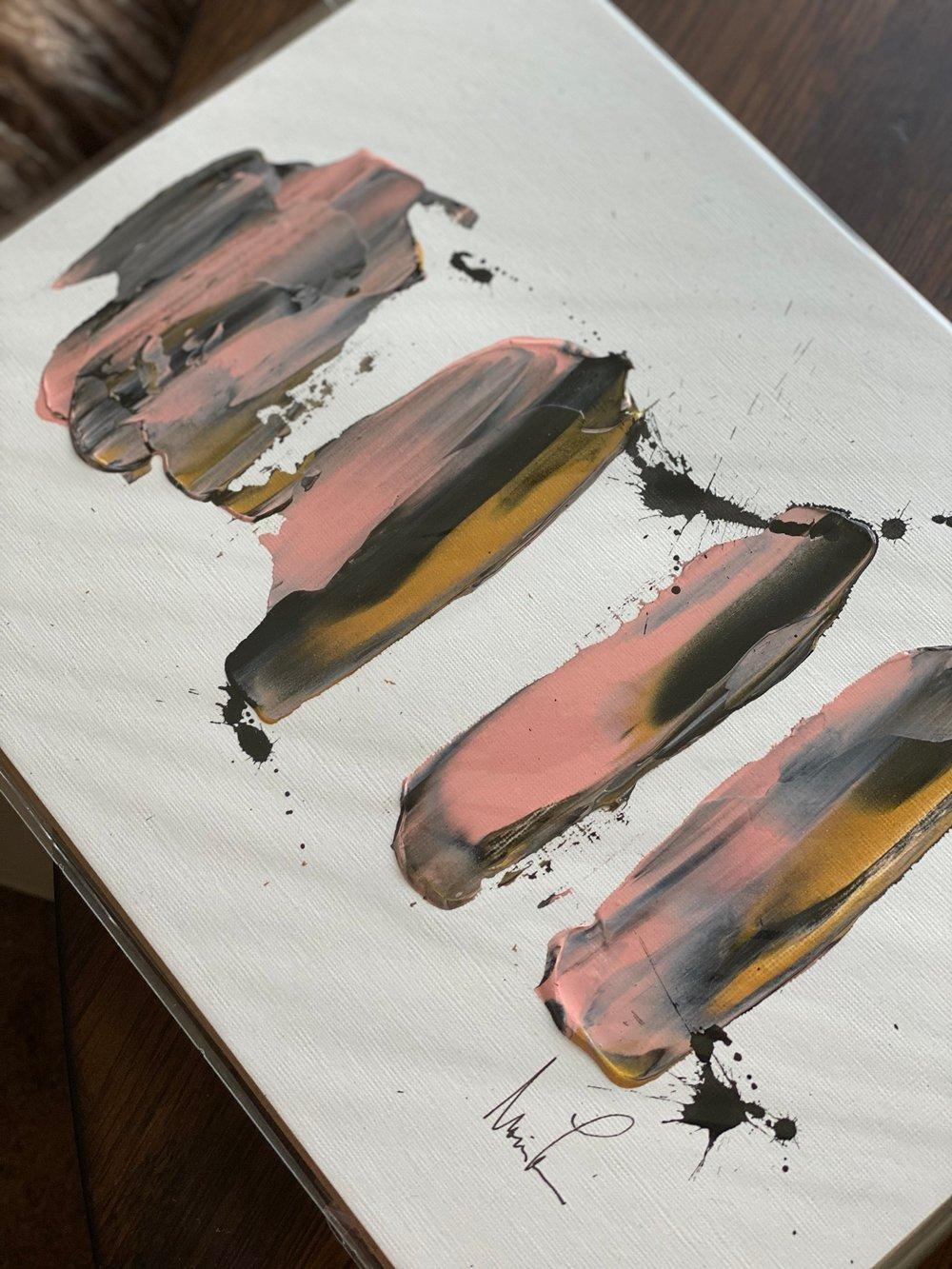 "Image of ""Pink Lady II"" 9 x 12 Acrylic Paper"