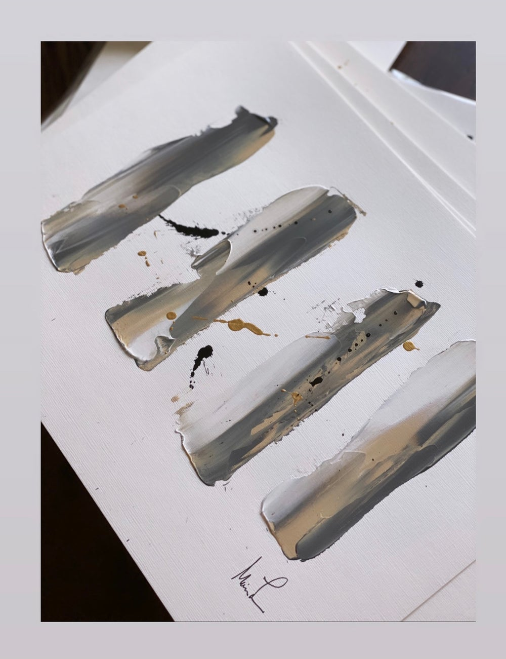"Image of ""Gray vs Grey"" 9 x 12 Acrylic Paper"
