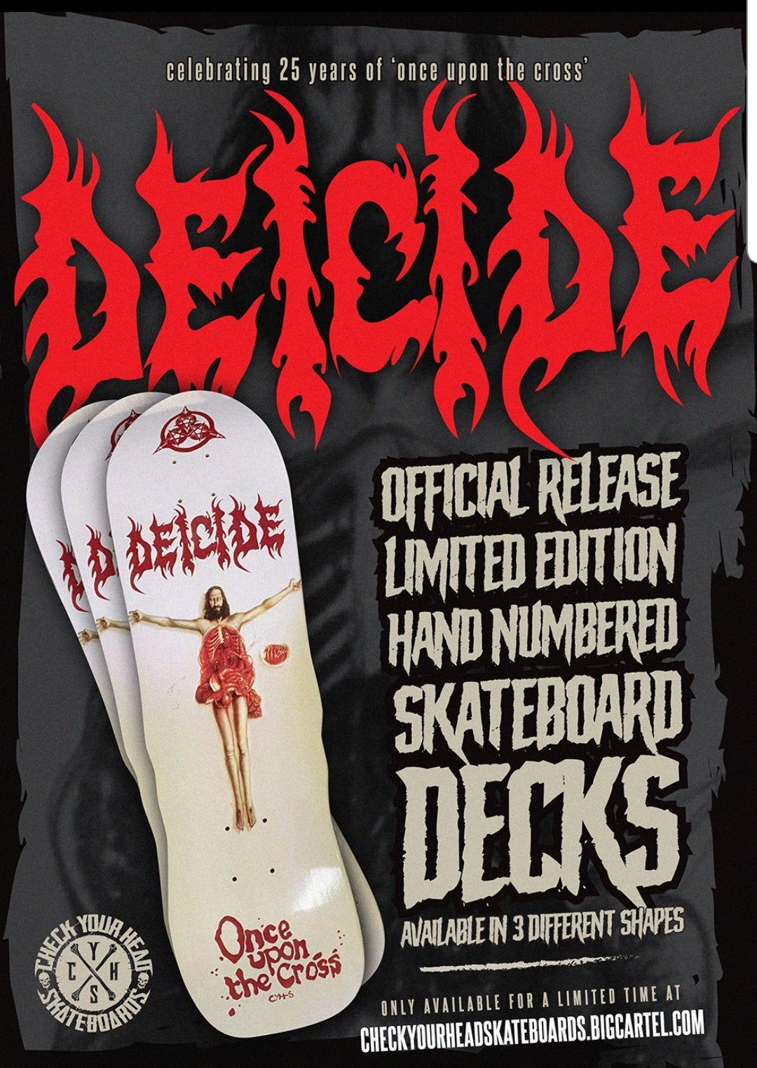 Image of DEICIDE ONCE UPON THE CROSS SKATEBOARDS