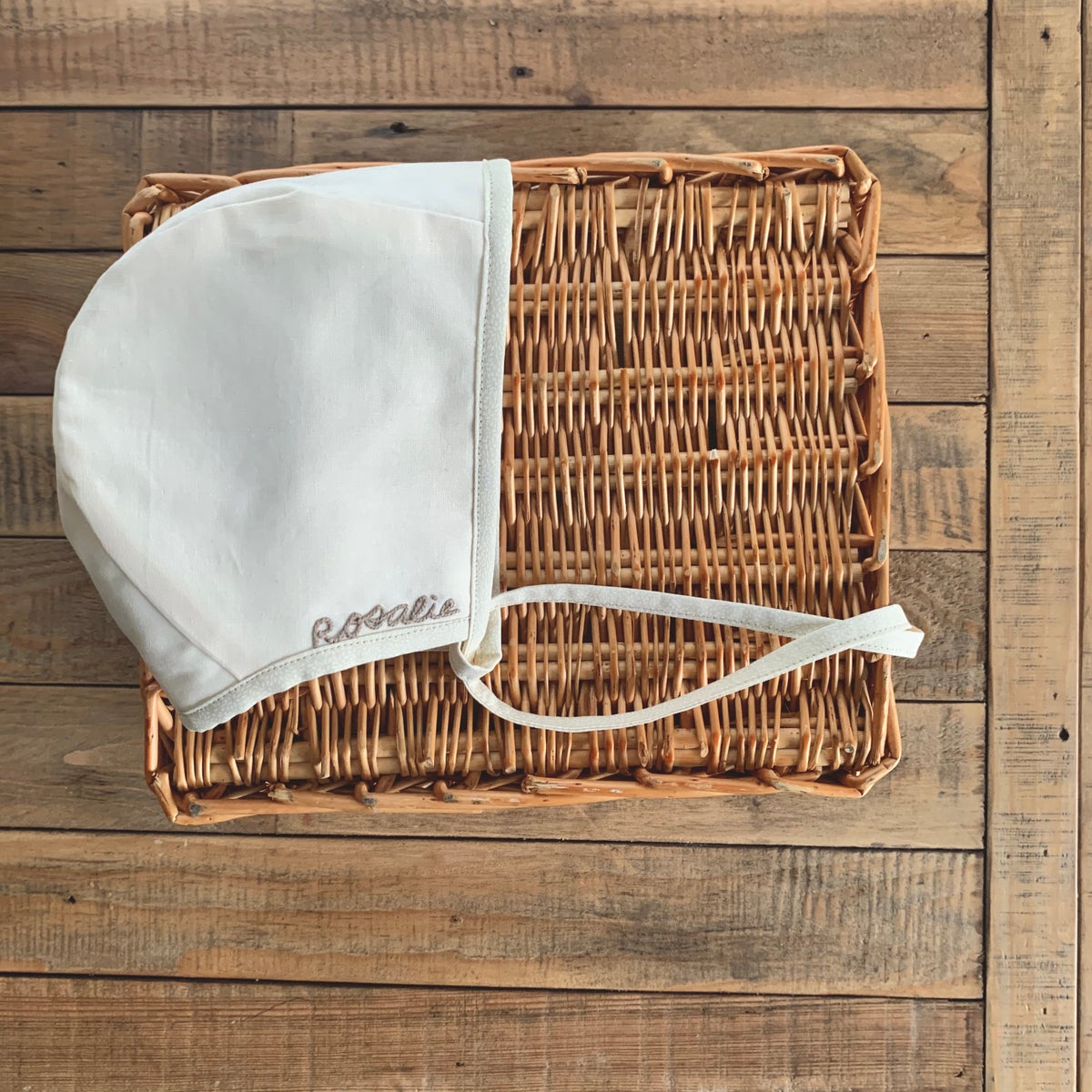 Image of Personalized Heirloom | Embroidered Bonnet