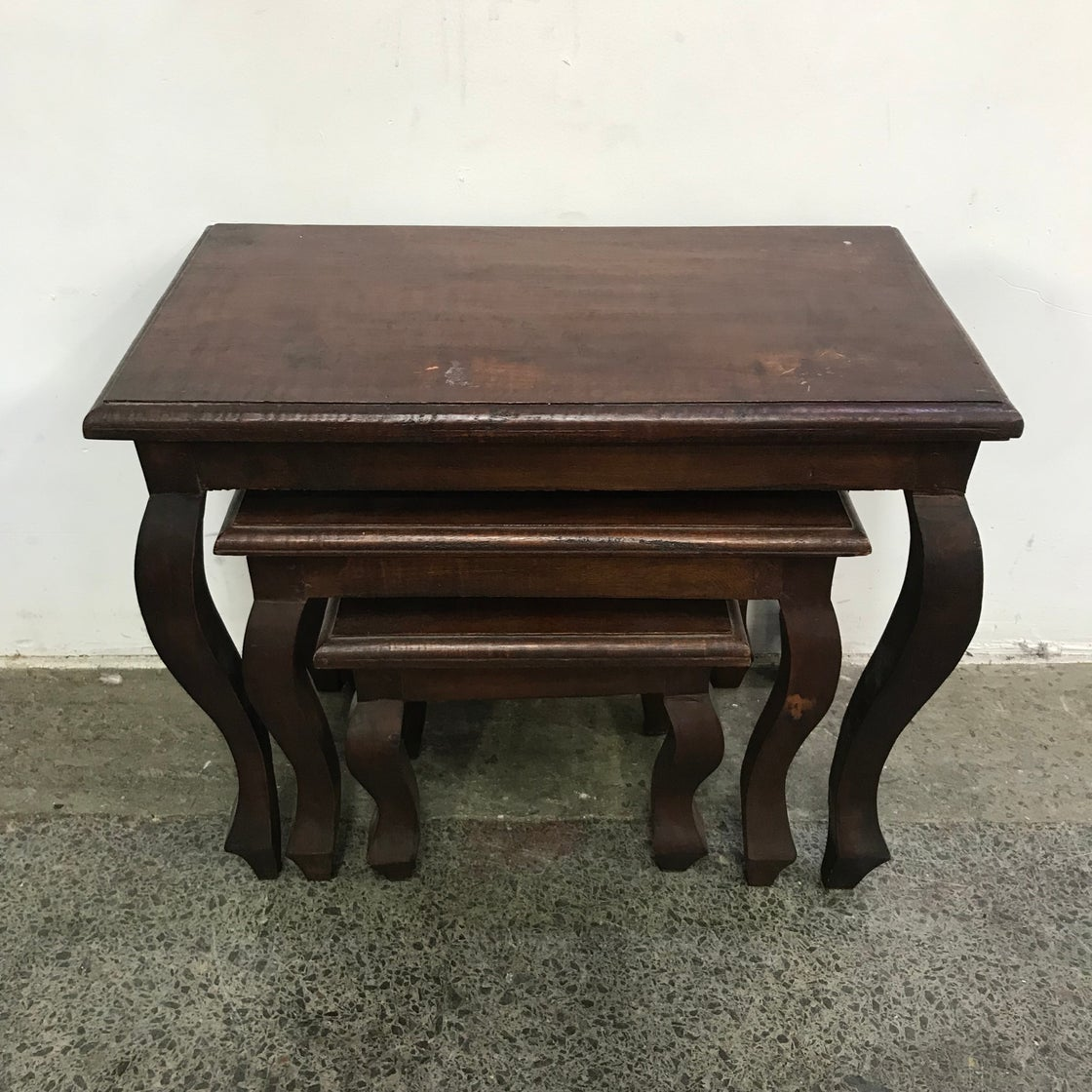 Image of TEAK NEST OF TABLES