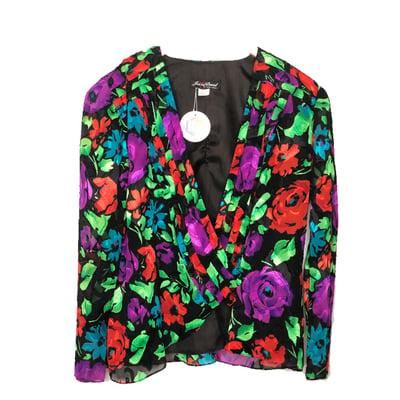 Image of Black Floral Jacket