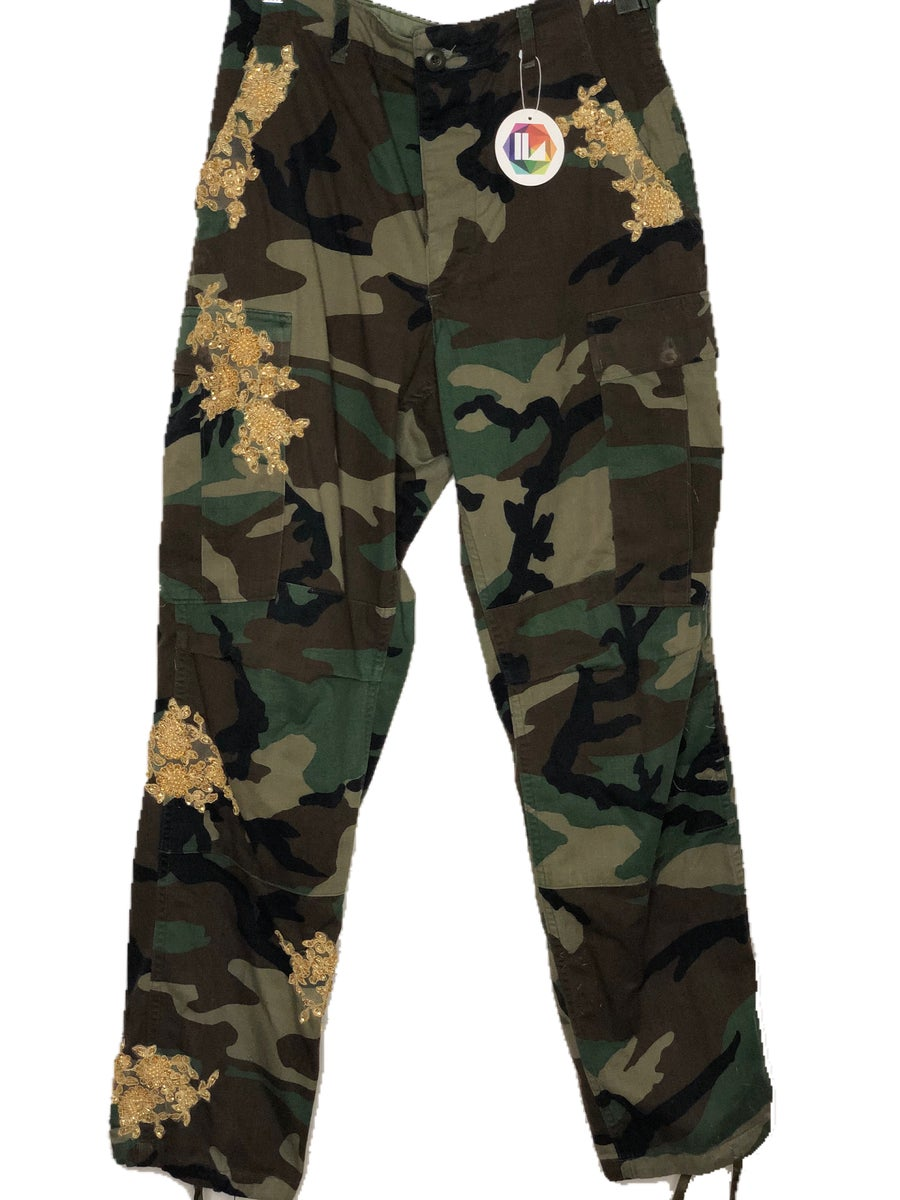 Image of Sequin Camo Pants