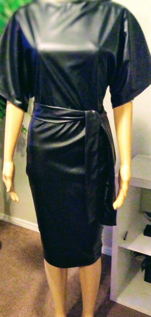 Image of Black Leatherette Dress