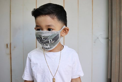 Image of Kids Vintage Camo Mask