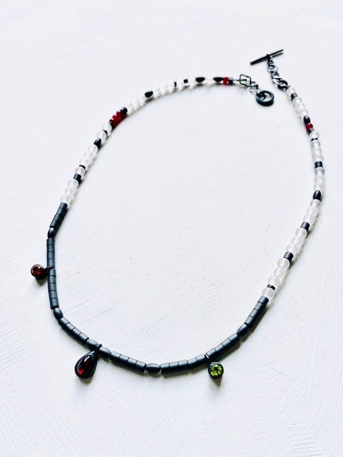 Image of shanti necklace - frosted quartz