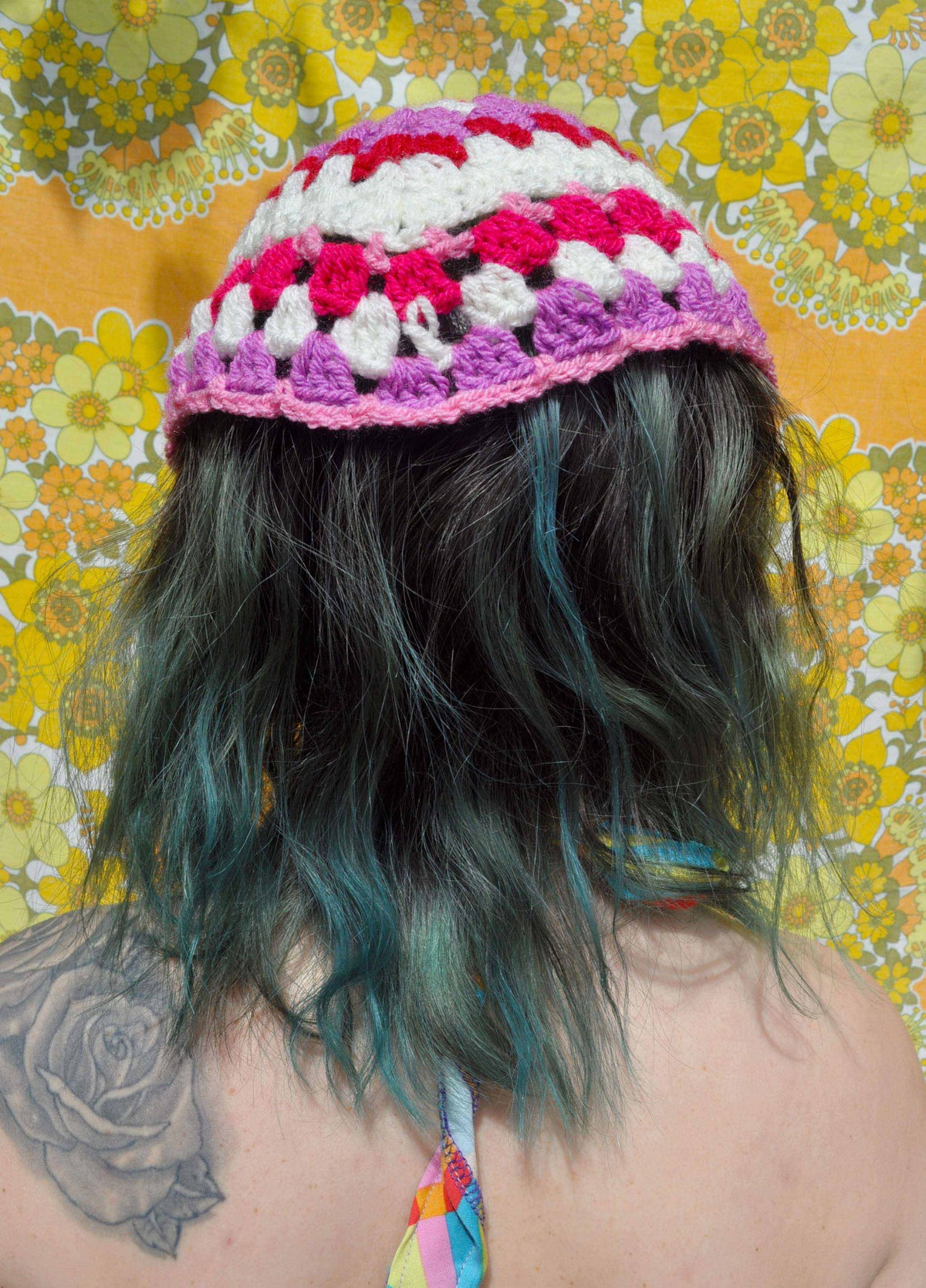 Image of Girl In The Garden Crochet Headscarf (Small)