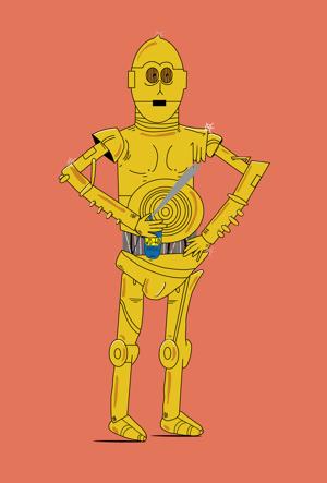 Image of No Spray No Lay with C3PO