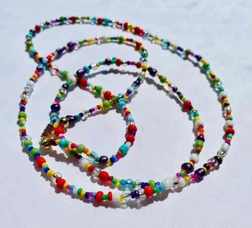 Image of Crystal Rainbow waist beads (set of 3)