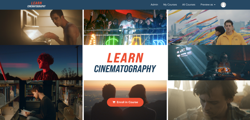 "Image of ""Learn Cinematography"" Online Program"