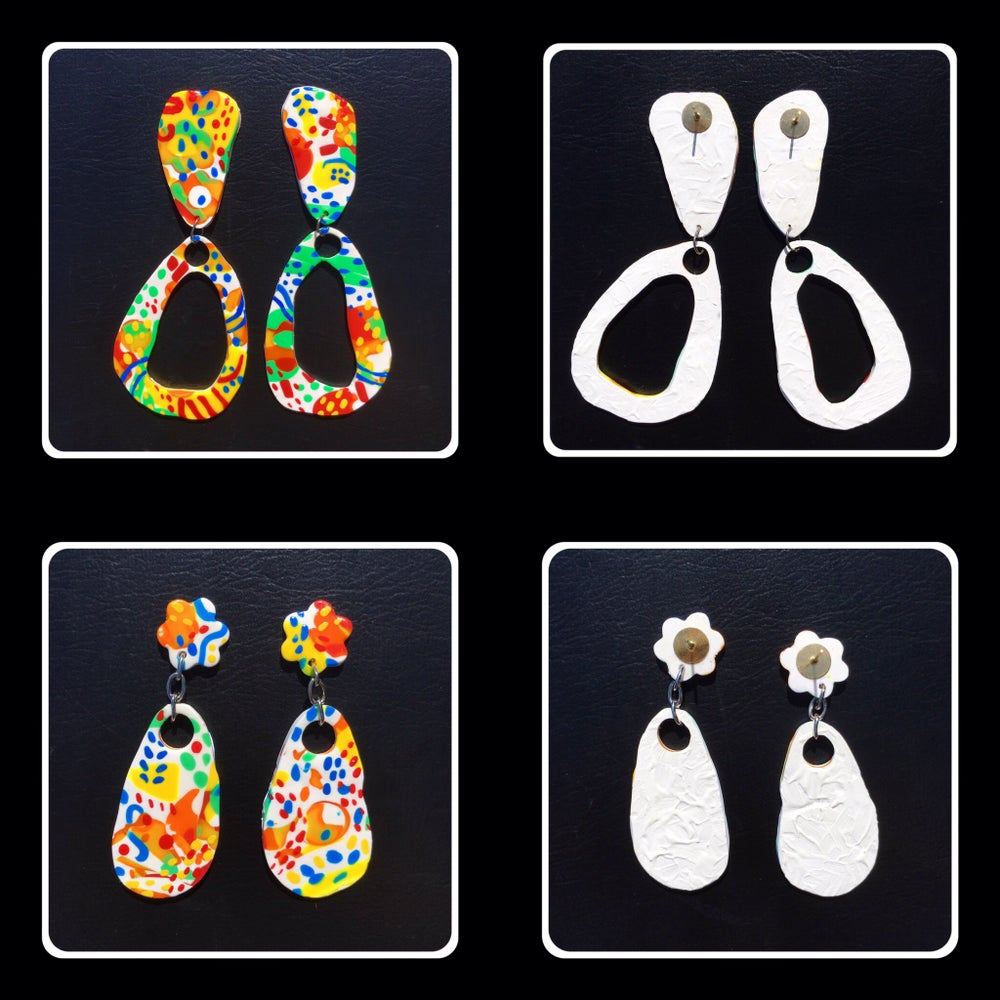 Image of Patterned stud earrings 2