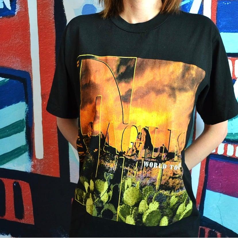 Image of Vintage 1994 Eagles Hell Freezes Over Concert Tour T-Shirt Sz.M