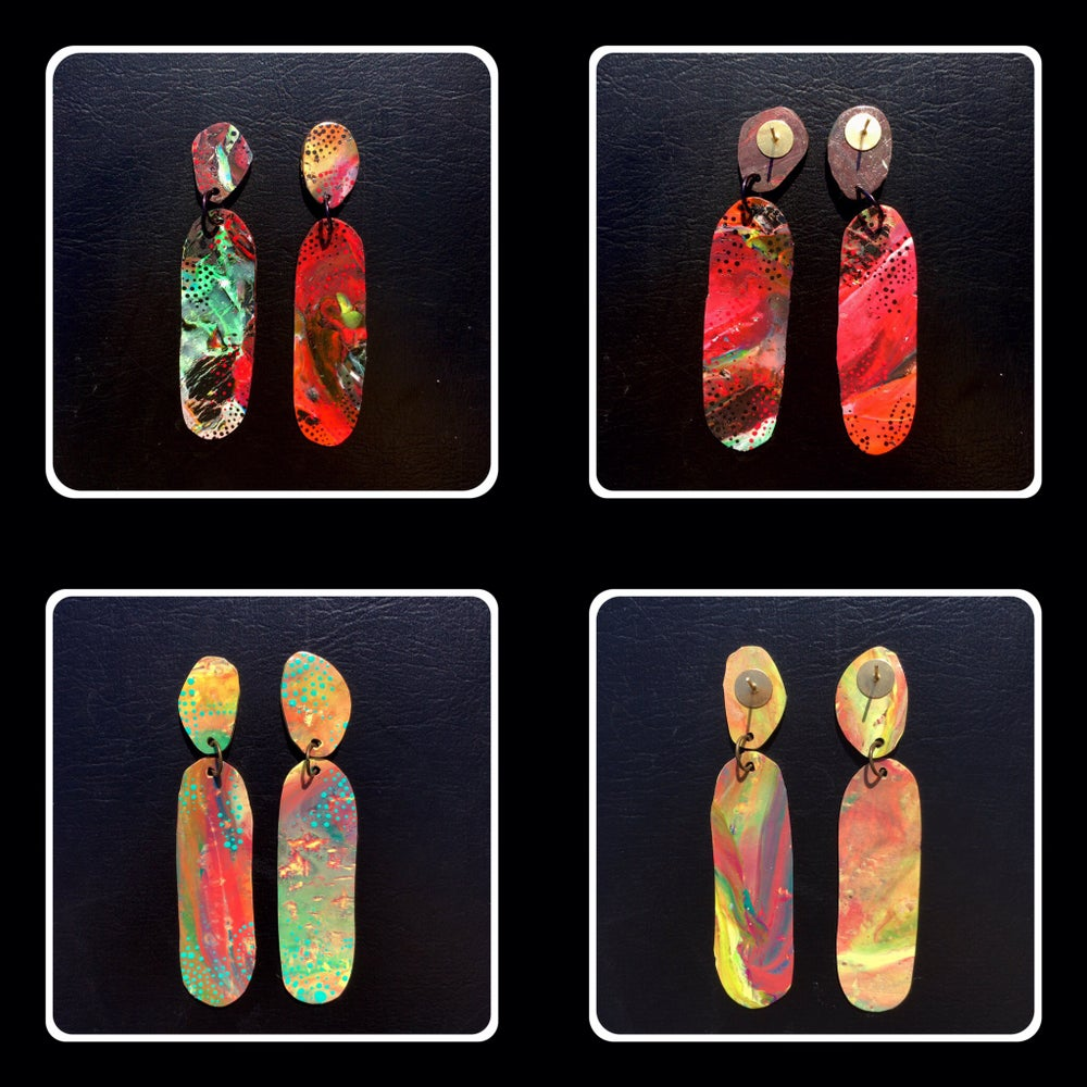 Image of Abstract oval earrings
