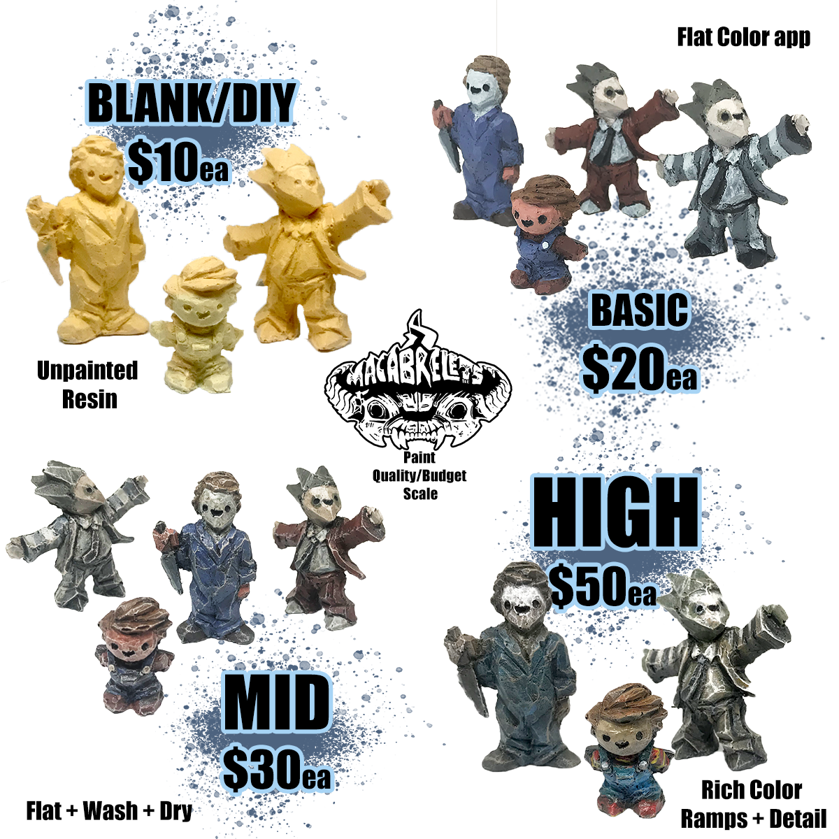 PREORDER: Macablets figures, Batch one