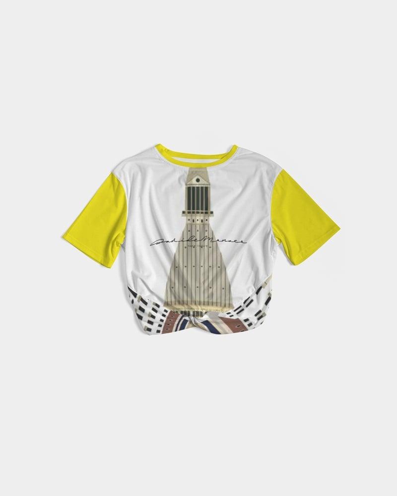 Image of T-shirt da donna attorcigliata sul davanti