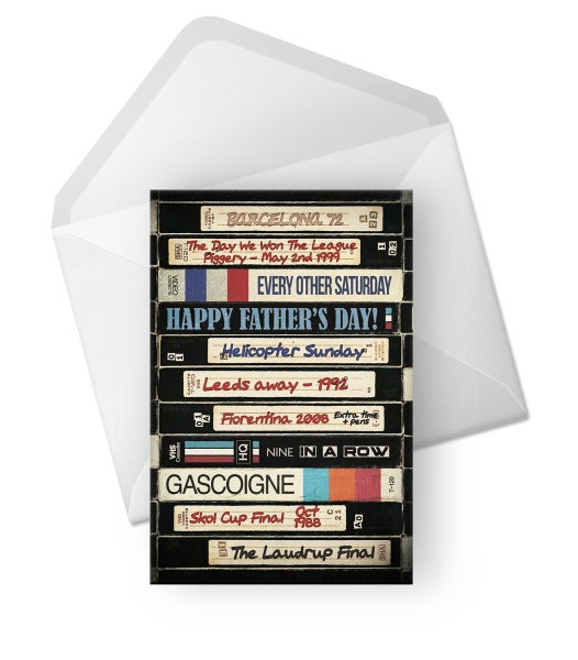 Image of Retro Father's Day Cards for Rangers fans.