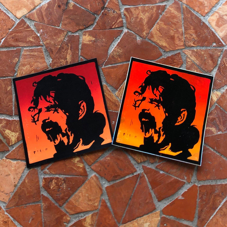 Image of Zappa magnet + sticker combo