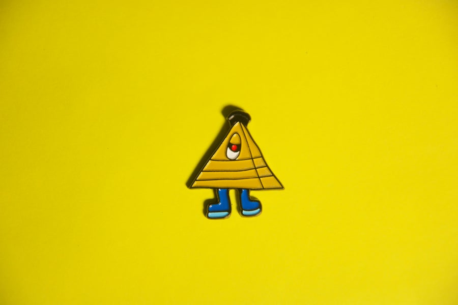 Image of All Seeing Eye  Glow in The Dark Lapel Pin