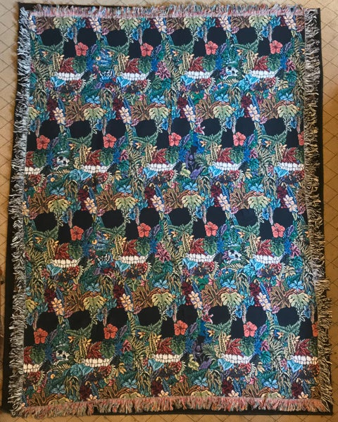 Image of Sinister Jungle woven blanket PREORDER