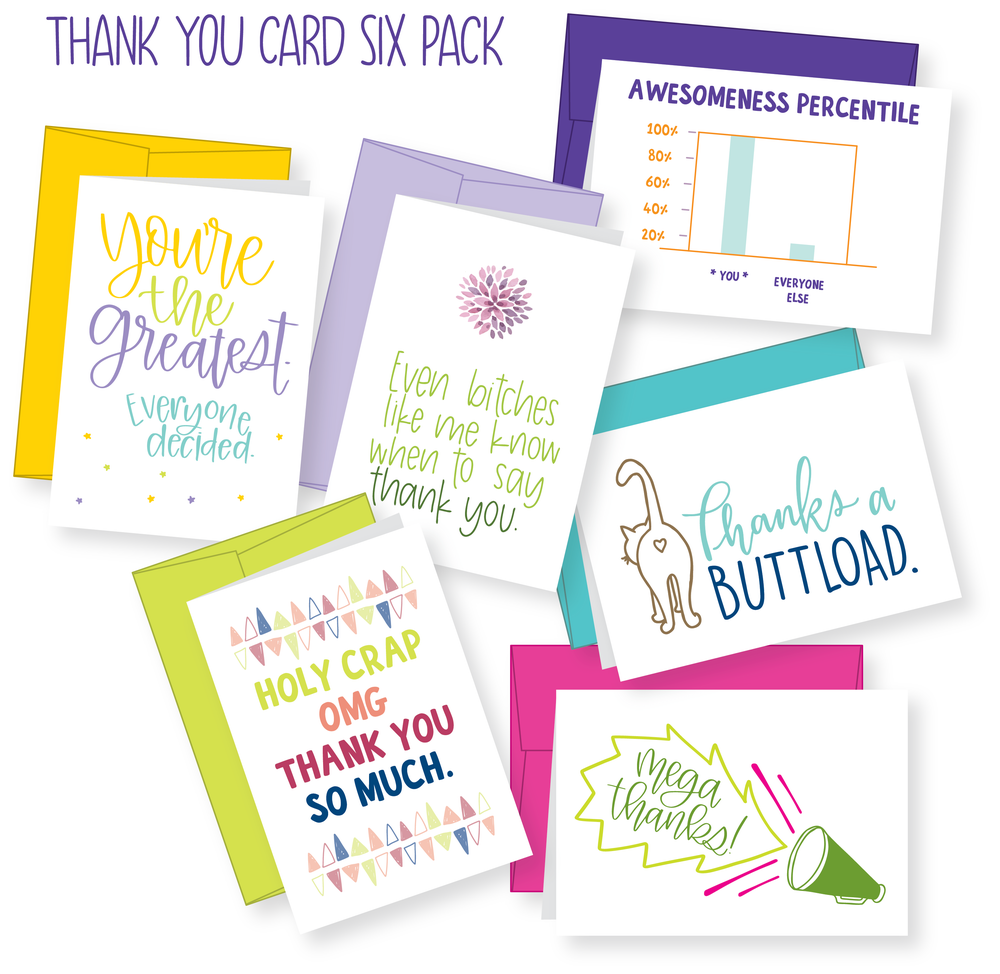 Image of Thank You Card 6-pack