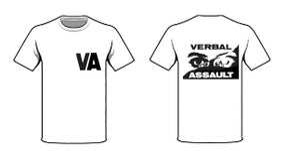 Image of VERBAL ASSAULT 1990 US Tour Shirt Reproduction