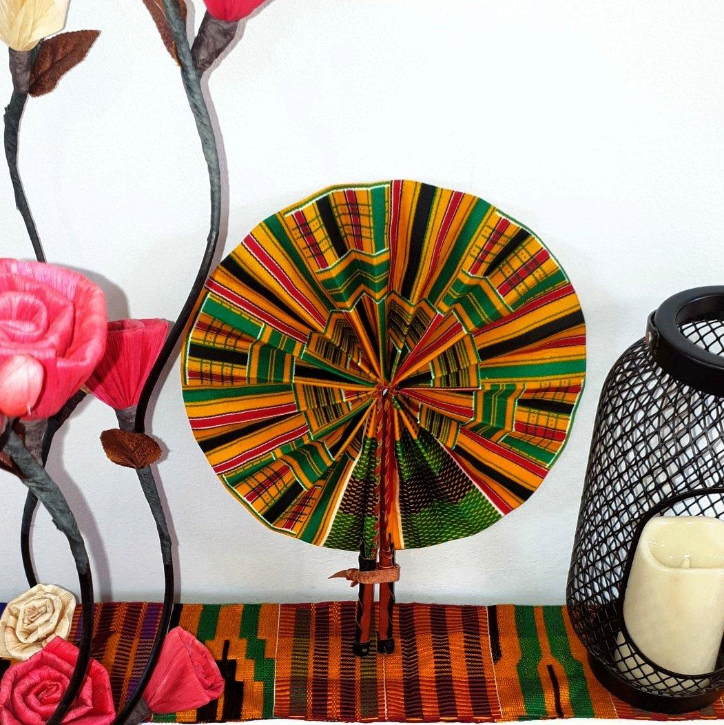 Image of ABENA AFRICAN PRINT HANDHELD FAN