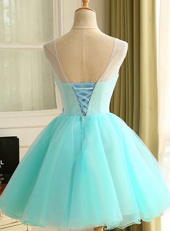 Lovely Short Mint Green Party Dress, Cute Homecoming Dress