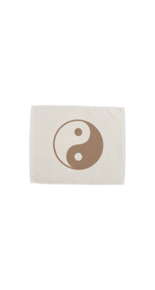Image of Small Peace Towel <div> Cream & Rust </div>