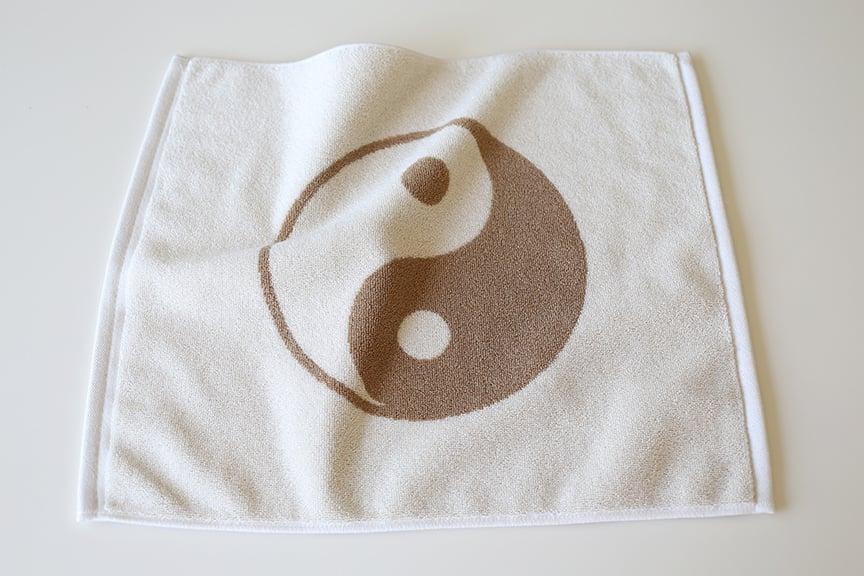 Image of Small Peace Towel <div> Cream & Rust </div>