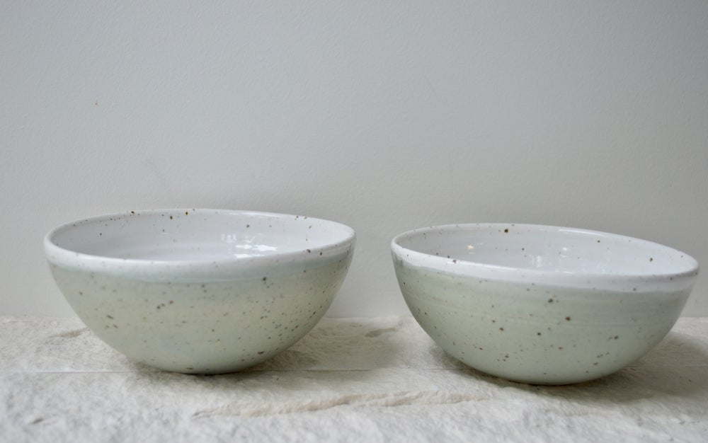 Image of Breakfast Ceramic Bowls  - Colour Sage -  2 in Stock