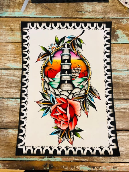 Image of • FINE ART PRINT • lighthouse