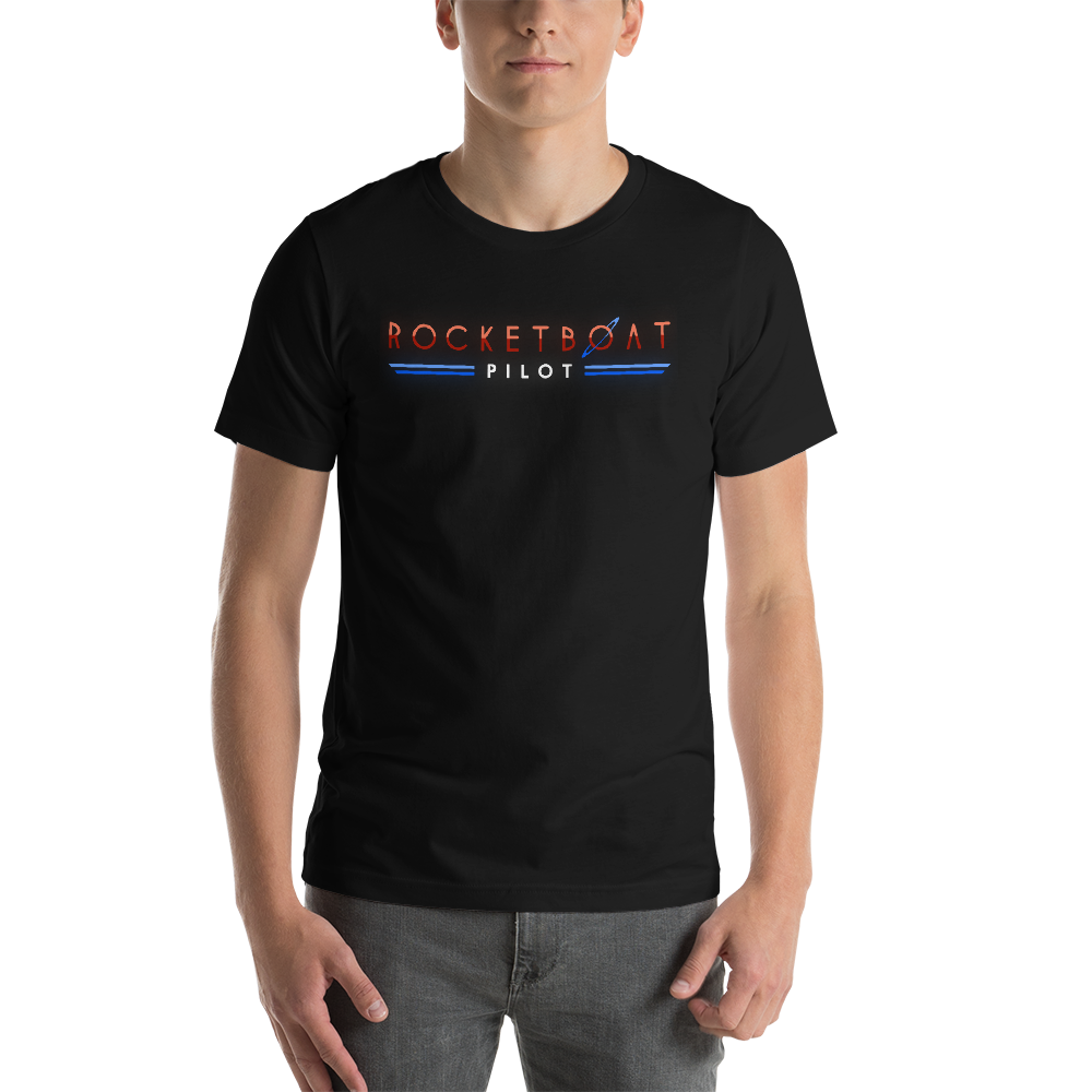 Image of Rocketboat - Pilot Logo Unisex T-Shirt