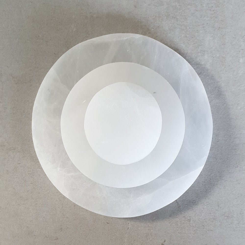 Image of SELENITE Round Charging Plates - Small, Medium & Large