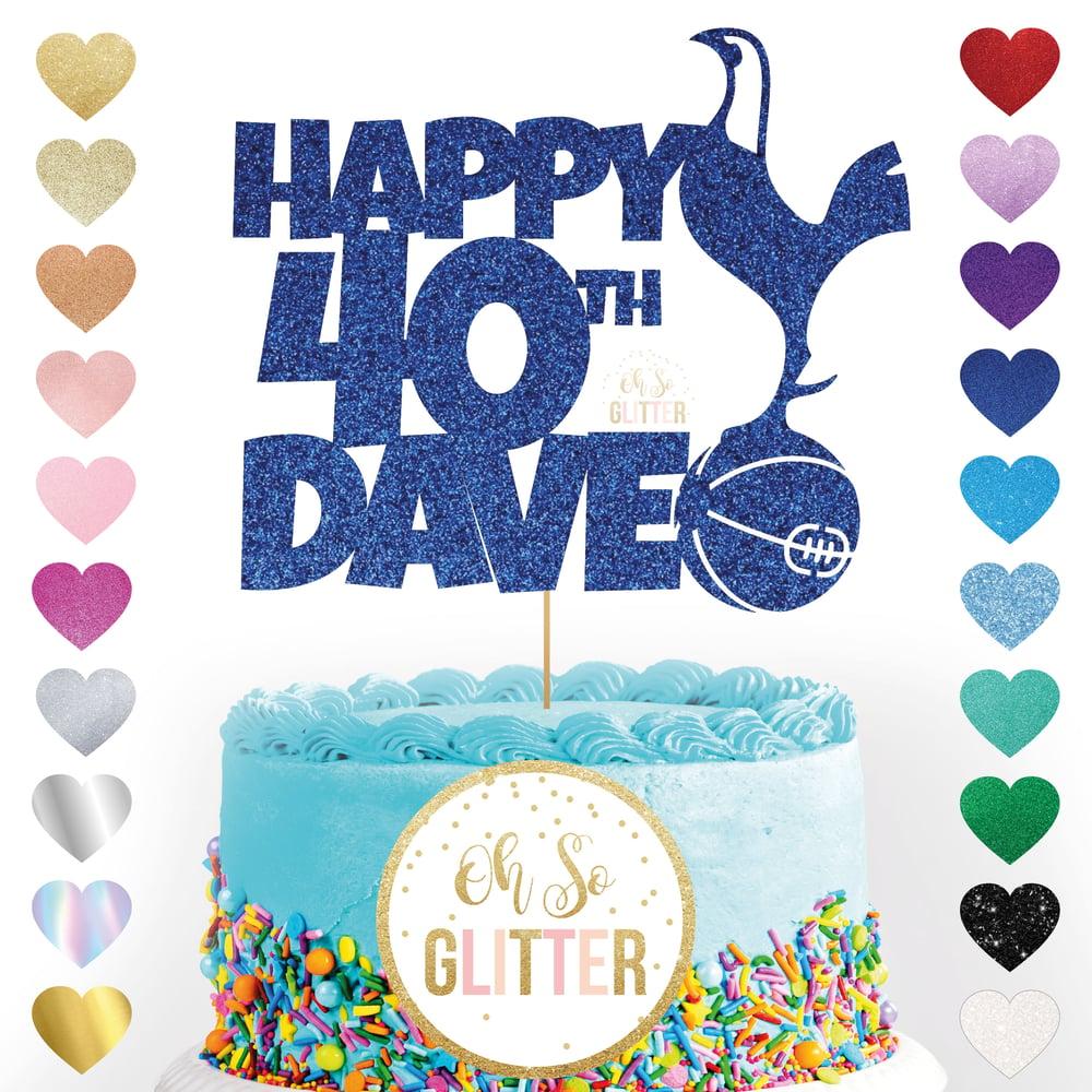 Image of Tottenham Football customised cake topper