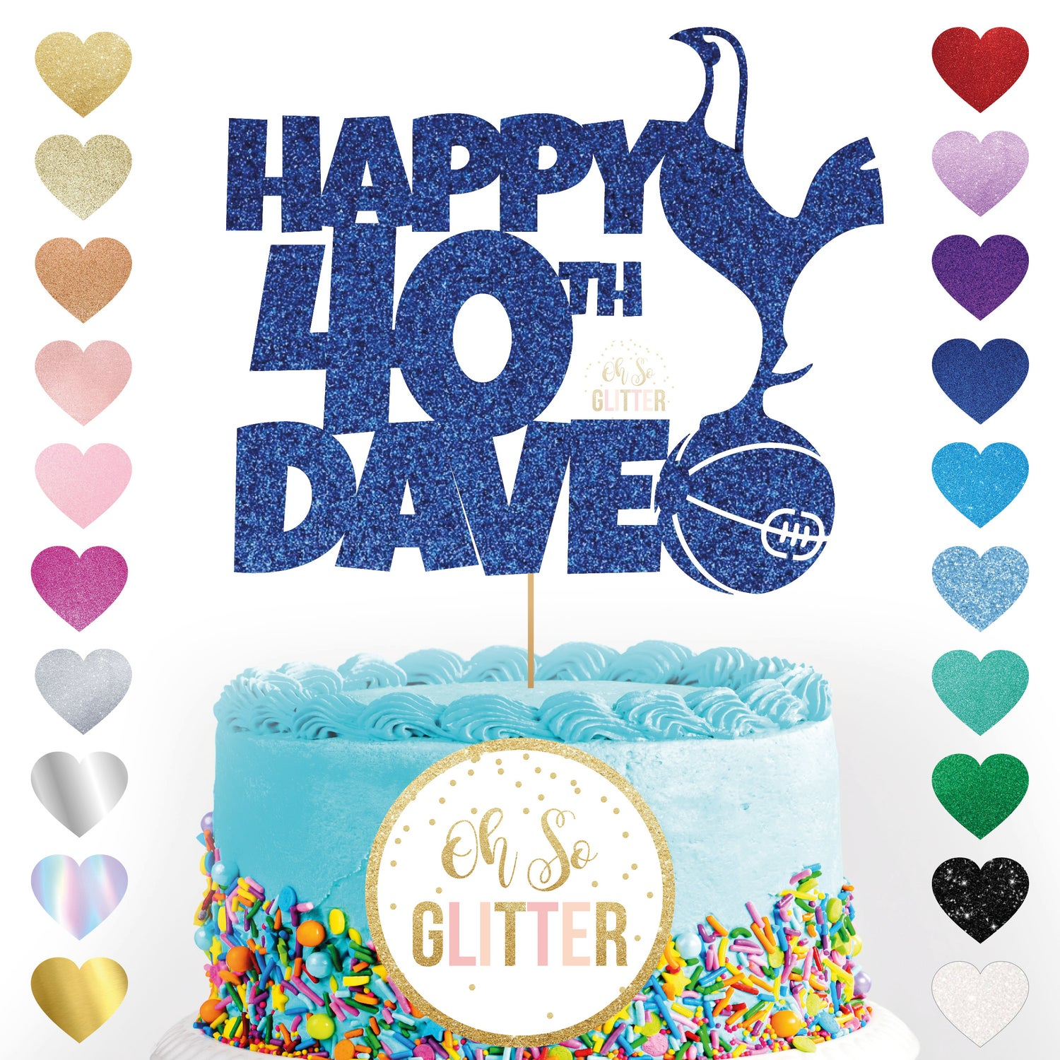Image of Tottenham Football customised cake topper