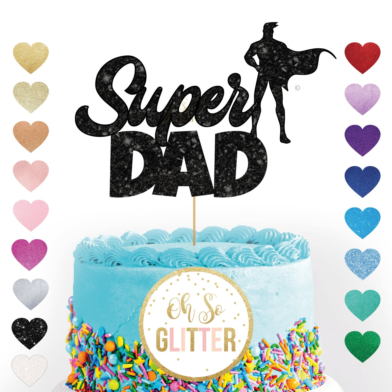 Image of Super Dad cake topper